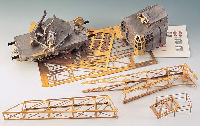 Die Bauteile des Kohlenkrans 3388/3389